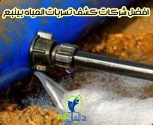 افضل شركات كشف تسربات المياه بينبع